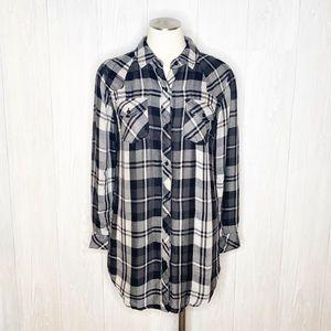 Rails | Plaid Tunic Button Down Shirt Sz. S